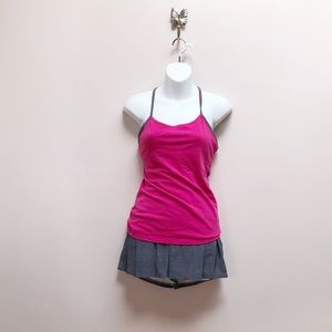 Lululemon power y tank pink magenta grey 6